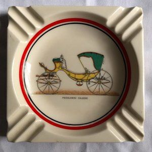 Vintage Piccolomini Caleche Porcelain Ashtray